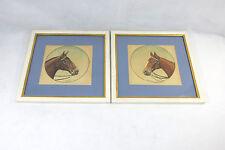 Zwei Art Deco Aquarell - Bilder signiert: F. Hanlet 1917 Belgien Pferd