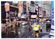 1944 New York City Automat Taxi Theater Times Square & W 46 St. MODERN Post Card