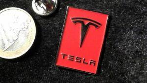 TESLA Pin Badge Logo selten rar edel