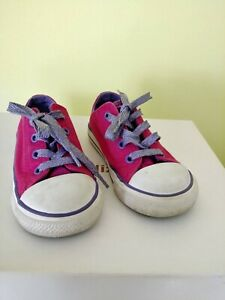 CONVERSE TODDLER GIRL in Pink / Purple SNEAKERS, Size 8