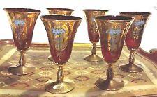 6 Calici Antichi di Murano XIX Secolo