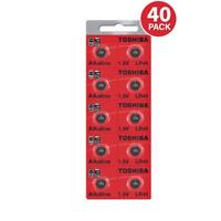 Toshiba LR41 AG3 Alkaline 1.5 Volt Batteries (40 Pack)