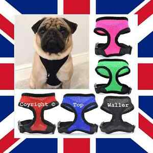 *Waller's Collars* Adjustable Soft Mesh Puppy Pet / Dog Harness *All Colours!*