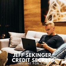 Jeff Sekinger - Credit Secrets |📌 Value $997