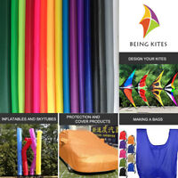 40D Thin Waterproof Ripstop Nylon Fabric PU Coated For Outdoor Kite Flags Making