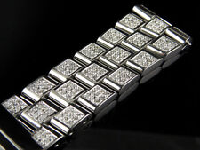 Brand New Mens Breitling Super Avenger Diamond Band with 9.5 Ct Custom Set