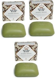 Nubian Heritage- (3-PACK) Raw Shea Butter Soaps  5oz, Bars /Fast Shipping