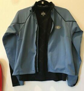 2 piece Medium Pearl izumi women's black shirt & blue jacket cycle bike 21-891