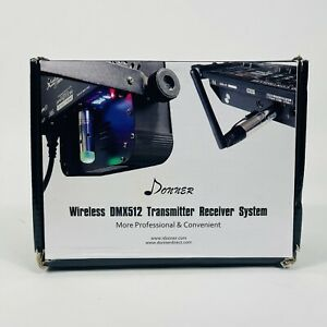 Donner Wireless DMX512 Transmitter Receiver system 8 piece (1T+7RS) New Open Box