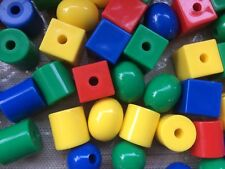 Plastic Lacing Beads (Threading laces, fine motor, Educational, Maths, Lacer)