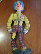 VINTAGE WIZARD OF OZ-SCARECROW DOLL- RP CO. CLOTH DOLL-COLLECTABLE! Estate pc