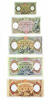 Italia 5 Banconote:100,500,1000,5.000,10.000 lire Capranesi (Riproduzione/copy)
