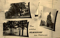 Klausdorf am Mellensee alte DDR Mehrbildkarte 1965 Partie am See Uferpartie u.a.
