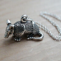 Armadillo Necklace - 925 Sterling Silver - Pendant Charm Texas Animal Desert NEW