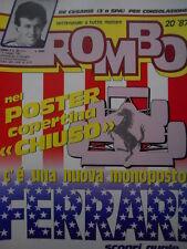 ROMBO 20 1987 con poster copertina FERRARI della nuova monoposto
