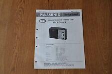 Panasonic R-1599 or C  Radio Genuine Service Manual. RF 1599 C