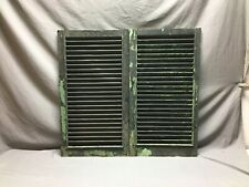Small Pair Antique House Window Wood Louvered Black Shutters 18 x 32  116-19B