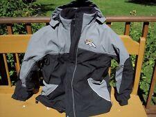 2X NFL Denver Bronchos Football Jacket Water Proof Coat Cold Weather 3 in 1