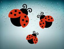 3x sticker car auto moto decals vinyl jdm ldybug ladybird wall macbook room