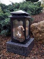 Grablaterne Maria mit  Sockel Grablampe Lampe Grableuchte Grablicht Grabschmuck
