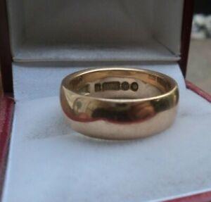 Vintage 9ct Rose Gold Wedding Band Ring h/m 1964 London - size K / L