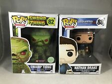 Funko Pop! Swamp Thing Scented Flocked and Drake Uncharted Damaged Box Lot of 2