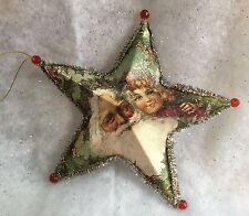 Nostalgia 3D Paper 5 Point Star Vintage Father Christmas Gisela Graham Tree