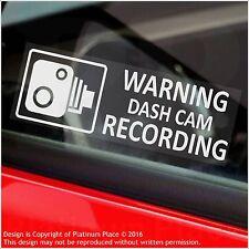 5 X Pegatinas de Advertencia de grabación de leva de la rociada de advertencia-Cctv Sign-coche, taxi, Mini Cab-30mm