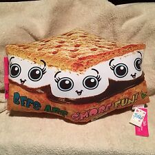 NEW w/ Tags - Justice Autograph BFF S'More Fun Pillow - Item # 1941346 - VHTF!