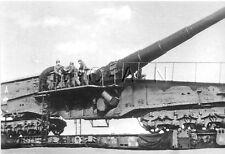 1940s (6 x 4) Repro German RP- Train- Railroad Artillery Gun- Large Cannon