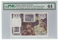 France 500 Francs Banknote 1946 Pick# 129a PMG Choice UNC 64