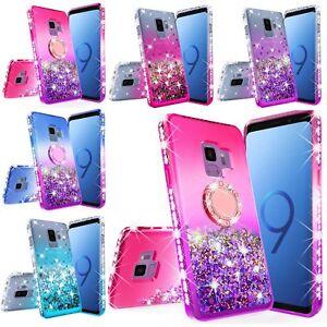 Samsung Galaxy S9 Plus Hybrid Luxury Liquid Glitter Bling Phone Case Cover
