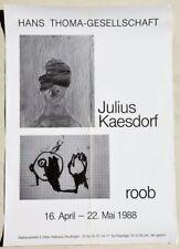 Julius Kaesdorf 1914-1993 Biberach / Plakat zur Ausstellung 1988 Reutlingen