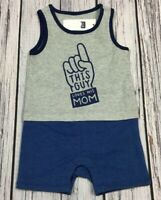 Baby Gap Boys 3-6 Months Shorts Romper. This Guy Loves Mom Outfit. Nwt