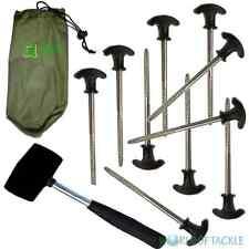 Bivvy picchetti e Mallet X 10 Heavy Duty Pesca Campeggio Per Tenda Brolley OMBRELLO