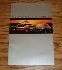 Original 1985 Toyota Car & Truck Full Line Sales Brochure 85 Camry Supra Celica