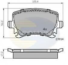 Skoda Octavia Superb Yeti 2004- Rear Disc Brake Pad Set Sensor on bottom of pads