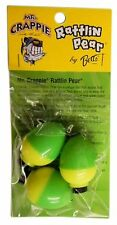 "Betts Mr Crappie Rattlin Pear, 1"" Bobbers, Four packs (3 per pk) #Rp3P-3Yg"