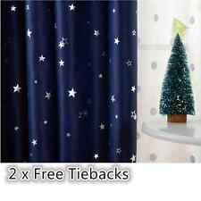 QUALITY TODDLER BOY KIDS Blockout Eyelet Curtain - NAVY BLUE STARS 180cm x 230cm