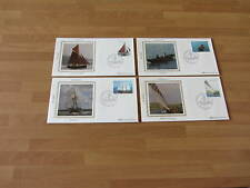1982 Benham Silk Commem.Covers - M6 IRISH BOATS  (4 Covers)