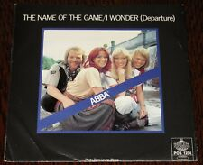"""ABBA The Name Of the Game 1977 Texture Picture Sleeve Sweden 7"""" Polar - NM"""