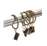 30 Packung Metall Vorhang Clip Ringe Gardinenringe mit Clip Drapery Bronze 32mm