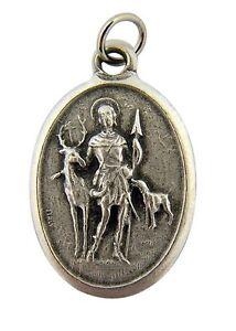 Silver Tone Saint St Hubert Patron of Hunters Medal, 1 Inch
