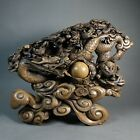 """Huge Vintage Chinese Asian Dragon Sculpture 47 lbs. 17.5"""" Tall by 21"""" wide."""