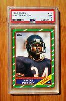 1986 Topps #11 WALTER PAYTON Chicago Bears PSA 7 NM