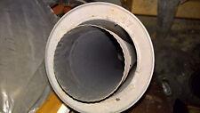 tubage double parois en acier 2mm avec trappe de tirage d125  noir mat