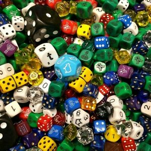 Mixed Factory Seconds Dice (By Weight) Miscast/Defective Bulk Job Lot Collection