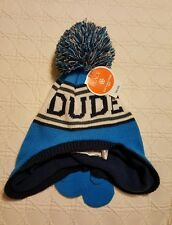 NWT Blue Dude Lined Knit Hat and Mittens Size S 12/24 Mths  The Children's Place