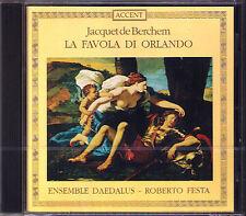 Jacquet de BERCHEM 1505-1565 La Favola di Orlando CD Maurizio Maiorana Festa NEU