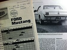 FORD MUSTANG 289 - 1964 - Road Test removed from MOTOR